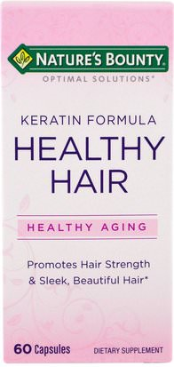 Salud, Mujeres, Piel Natures Bounty, Optimal Solutions, Healthy Hair Keratin Formula, 60 Capsules