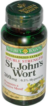 Hierbas, St. Johns Wort Natures Bounty, St. Johns Wort, 300 mg, 100 Capsules