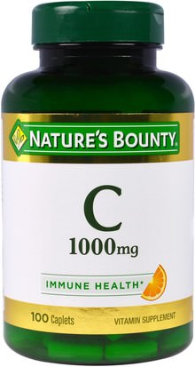 Vitaminas, Vitamina C Natures Bounty, Vitamin C, 1000 mg, 100 Caplets