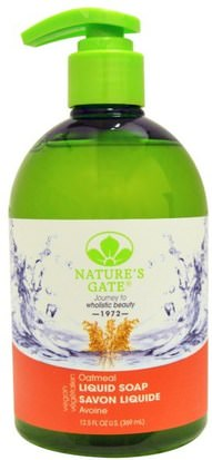Baño, Belleza, Jabón Natures Gate, Liquid Soap, Oatmeal, 12.5 fl oz (369 ml)
