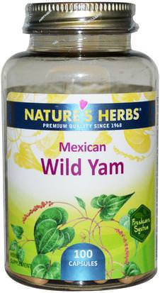 Salud, Mujeres, Ñame Salvaje Natures Herbs, Mexican Wild Yam, 100 Capsules