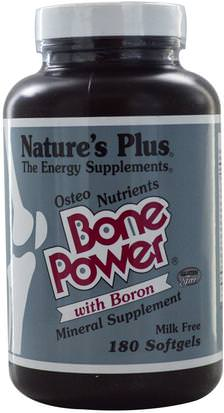 Salud, Hueso, Osteoporosis Natures Plus, Bone Power, with Boron, 180 Softgels