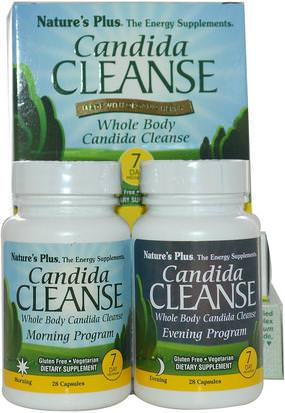 Salud, Desintoxicacion, Candida Natures Plus, Candida Cleanse, 7 Day Program, 2 Bottles, 28 Capsules Each