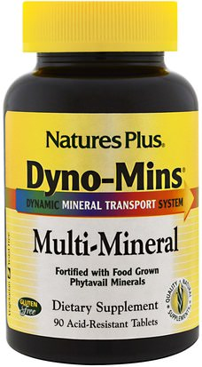 Suplementos, Minerales, Minerales Múltiples Natures Plus, Dyno-Mins, Multi-Mineral, 90 Acid-Resistant Tablets