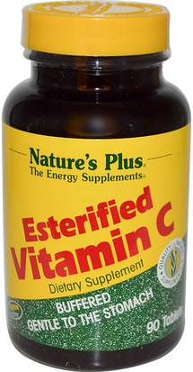 Vitaminas, Vitamina C Natures Plus, Esterified Vitamin C, 90 Tablets