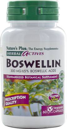 Salud, Inflamación, Boswellia Natures Plus, Herbal Actives, Boswellin, 300 mg, 60 Veggie Caps