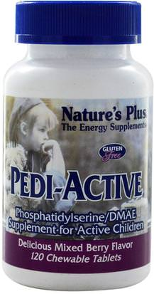Suplementos, Fosfatidilserina, Suplementos De Los Niños Natures Plus, Pedi-Active, Supplement For Active Children, Mixed Berry Flavor, 120 Chewable Tablets