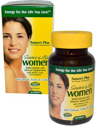 Vitaminas, Mujeres Multivitaminas, Mujeres Natures Plus, Source of Life, Women, Multi-Vitamin and Mineral Supplement, 60 Tablets