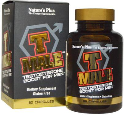 Salud, Hombres, Testosterona Natures Plus, T Male, Testosterone Boost For Men, 60 Capsules