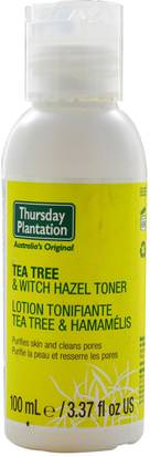 Belleza, Toners Faciales Natures Plus, Thursday Plantation, Tea Tree & Witch Hazel Toner, 3.37 fl oz (100 ml)