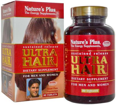 Salud, Hombres, Mujeres Natures Plus, Ultra Hair, For Men and Women, 90 Tablets