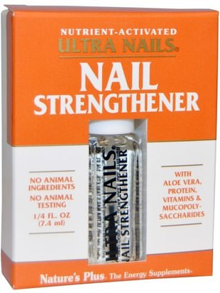Salud, Salud De Las Uñas, Uñas Frágiles Natures Plus, Ultra Nails, Nail Strengthener, 1/4 fl oz (7.4 ml)