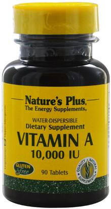 Vitaminas, Vitamina A, Vitamina A Y D Natures Plus, Vitamin A, 10,000 IU, 90 Tablets