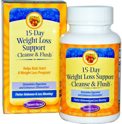 Salud, Desintoxicacion Natures Secret, 15-Day Weight Loss Support, Cleanse & Flush, 60 Tablets