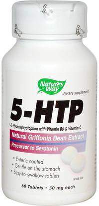 Suplementos, 5-Htp, 5-Htp 50 Mg Natures Way, 5-HTP, 50 mg Each, 60 Tablets