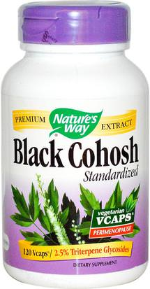 Suplementos, Salud, Cohosh Negro Natures Way, Black Cohosh, Standardized, 120 Vcaps