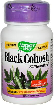Suplementos, Salud, Cohosh Negro Natures Way, Black Cohosh, Standardized, 60 Tablets