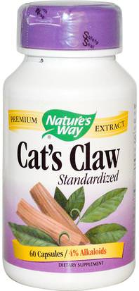 Suplementos, Hierbas, Garra De Gato (Ua De Gato) Natures Way, Cats Claw, Standardized, 60 Capsules
