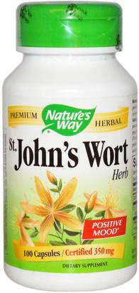 Hierbas, St. Johns Wort Natures Way, St. Johns Wort, Herb, 350 mg, 100 Capsules