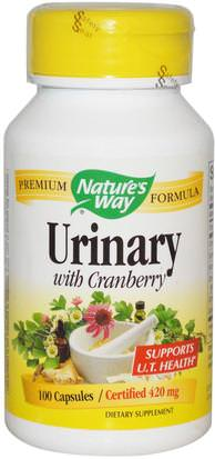 Hierbas, Arándano Natures Way, Urinary with Cranberry, 420 mg, 100 Capsules