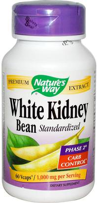 Salud, Dieta, Suplementos Natures Way, White Kidney Bean Standardized, 60 Veggie Caps