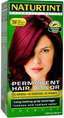 Baño, Belleza, Cabello, Cuero Cabelludo, Color De Cabello Naturtint, Permanent Hair Color, 5M Light Mahogany Chestnut, 5.28 fl oz (150 ml)