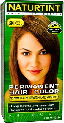 España Naturtint, Permanent Hair Color, 6N Dark Blonde, 5.28 fl oz (150 ml)