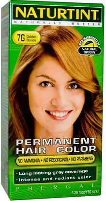 España Naturtint, Permanent Hair Color, 7G Golden Blonde, 5.28 fl oz (150 ml)