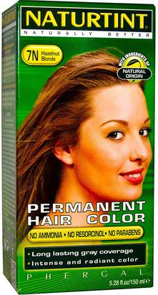 España Naturtint, Permanent Hair Color, 7N Hazelnut Blonde, 5.28 fl oz (150 ml)