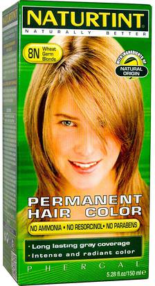 Baño, Belleza, Cabello, Cuero Cabelludo, Color De Cabello Naturtint, Permanent Hair Color, 8N Wheat Germ Blonde, 5.28 fl oz (150 ml)