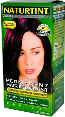 España Naturtint, Permanent Hair Colorant, 4M Mahogany Chestnut, 5.98 fl oz (170 ml)