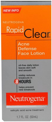 Belleza, Cuidado Facial, Acné Neutrogena Neutrogena, Rapid Clear, Acne Defense Face Lotion, 1.7 fl oz (50 ml)