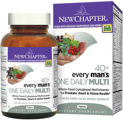 Vitaminas, Hombres, Multivitaminas New Chapter, 40+ Every Mans One Daily Multi, 72 Tablets