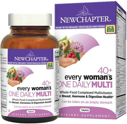 Vitaminas, Mujeres Multivitaminas New Chapter, 40+ Every Womans One Daily Multi, 72 Tablets