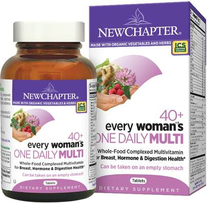 Vitaminas, Mujeres Multivitaminas New Chapter, 40+ Every Womans One Daily Multi, 96 Tablets
