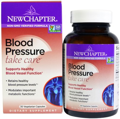 Salud, Presión Arterial New Chapter, Blood Pressure, Take Care, 30 Vegetarian Capsules
