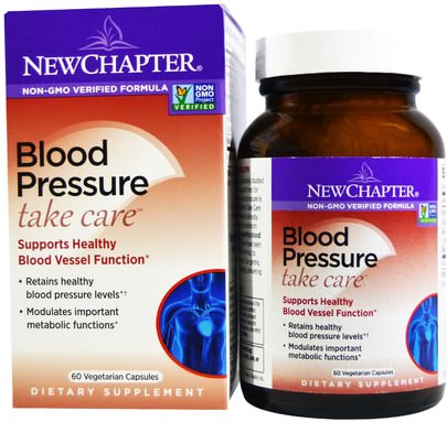 Salud, Presión Arterial New Chapter, Blood Pressure Take Care, 60 Vegetarian Capsules