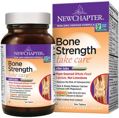 Salud, Hueso, Osteoporosis New Chapter, Bone Strength Take Care, 180 Slim Tablets