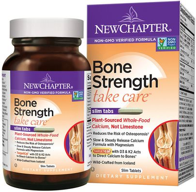 Salud, Hueso, Osteoporosis New Chapter, Bone Strength Take Care, 60 Slim Tablets
