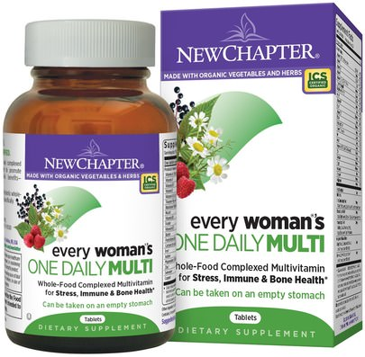 Vitaminas, Mujeres Multivitaminas New Chapter, Every Womans One Daily Multi, 96 Tablets