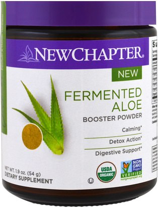 Suplementos, Aloe Vera New Chapter, Fermented Aloe Booster Powder, 1.9 oz (54 g)