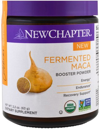 Suplementos, Superalimentos New Chapter, Fermented Maca Booster Powder, 2.2 oz (63 g)