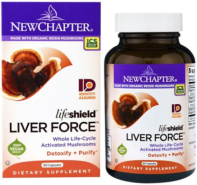 Salud, Apoyo Hepático New Chapter, Lifeshield Liver Force, 60 Capsules