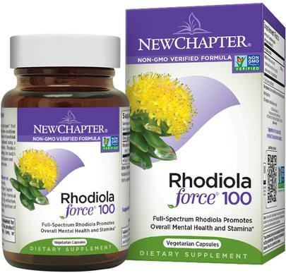 Hierbas, Rhodiola Rosea, Adaptógeno New Chapter, Rhodiola Force 100, 30 Veggie Caps