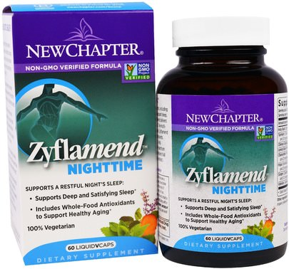 Suplementos, Dormir New Chapter, Zyflamend Nighttime, 60 Liquid VCaps