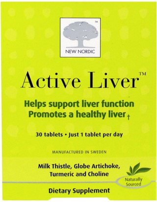 Salud, Apoyo Hepático New Nordic US Inc, Active Liver, 30 Tablets