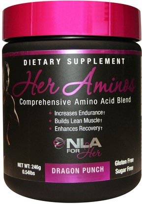 Deportes, Productos Deportivos Para Mujeres NLA for Her, Her Aminos, Comprehensive Amino Acid Blend, Dragon Punch, 0.54 lbs (246 g)