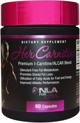 Deportes, Productos Deportivos Para Mujeres NLA for Her, Her Carnitine, Premium l-Carnitine/ALCAR Blend, 60 Capsules