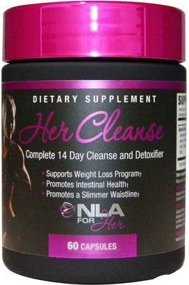 Deportes, Productos Deportivos Para Mujeres, Desintoxicación NLA for Her, Her Cleanse, Complete 14 Day Cleanse and Detoxifier, 60 Capsules