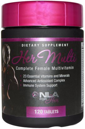 Deportes, Productos Deportivos Para Mujeres, Multivitaminas Para Mujeres NLA for Her, Her Multi, Complete Female Multivitamin, 120 Tablets